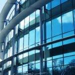 curtain walling on office building