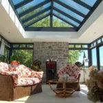 Living area with aluminium windows and roof lantern
