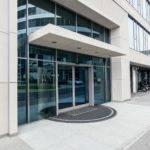 Shopfront large office building automatic door